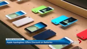 Apple apologizes, offers discount on batteries